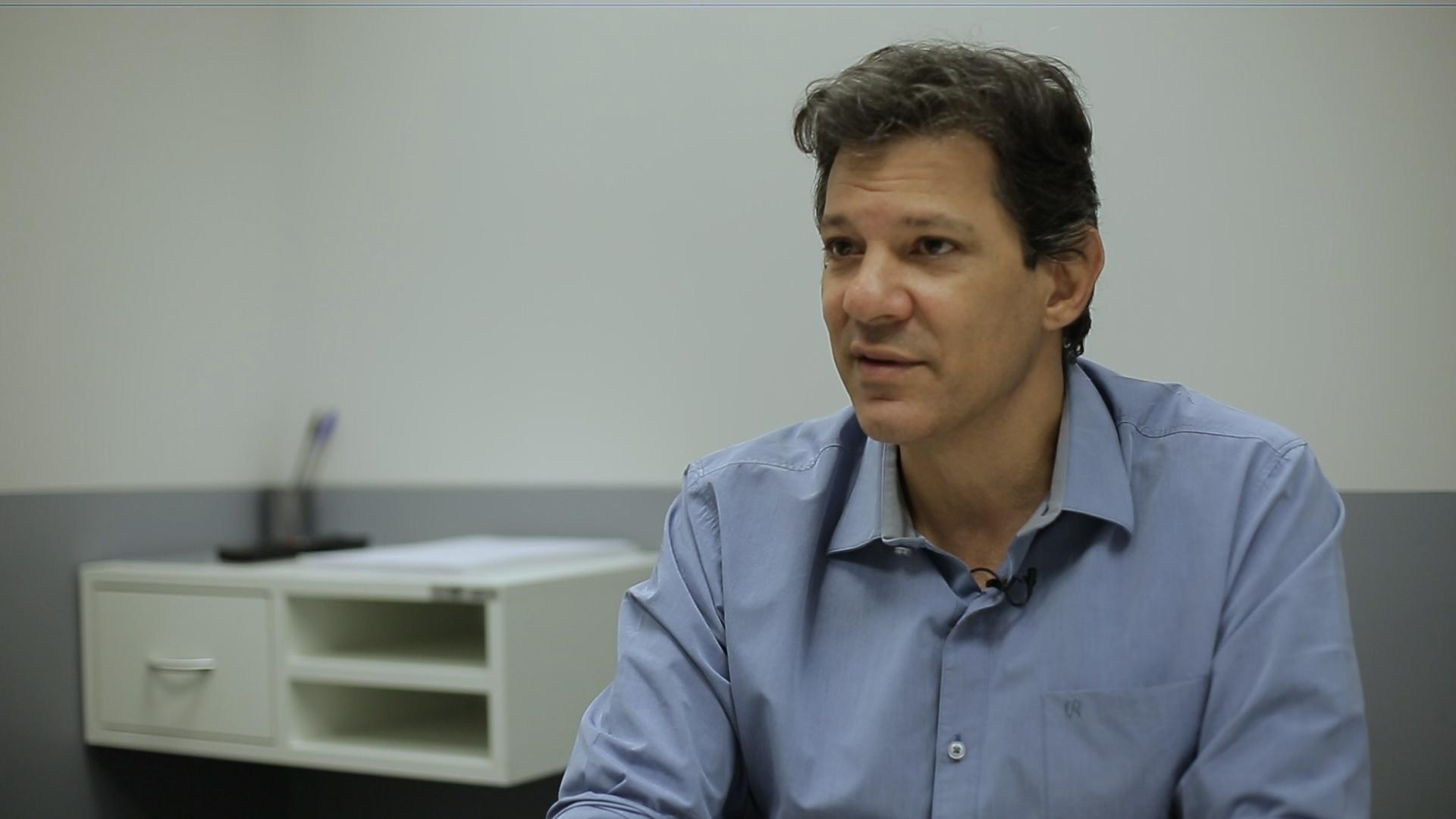 Entrevista exclusiva | Haddad diz que discurso de Bolsonaro e Doria é oportunista e inconsequente