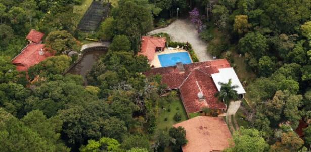 Vista aérea de sítio em Atibaia (SP) atribuído ao ex-presidente Lula