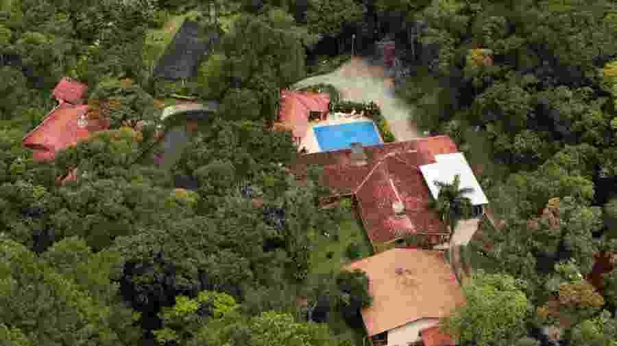 Vista aérea de sítio em Atibaia (SP) atribuído ao ex-presidente Lula - 5.fev.2016 - Jorge Araujo/Folhapress