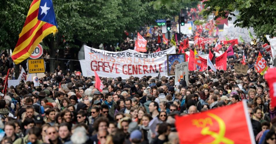 1o de maio em Paris, na França