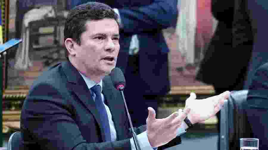 2.jul.2019 - Ministro da Justiça, Sergio Moro, fala a deputados sobre mensagens vazadas na Câmara dos Deputados - Pablo Valadares/Câmara dos Deputados