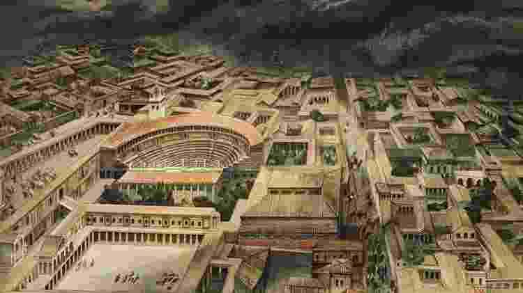 Pompeia era uma cidade romana próspera até ficar sob as cinzas e o material incandescente do Vesúvio - Getty Images