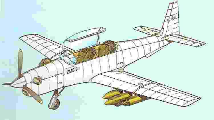 EMB-311 contaria com assentos ejetáveis, presentes em diversos caças - Revista Flap