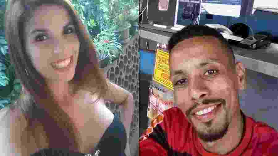 Bruna Santos, a passageira; e Daniel Torres, motorista do Uber que a ajudou com a filha doente, em São Gonçalo (RJ) - Acervo pessoal