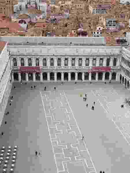 Piazza San Marco, em Veneza, estava praticamente vazia - Gustavo Setti/UOL - Gustavo Setti/UOL