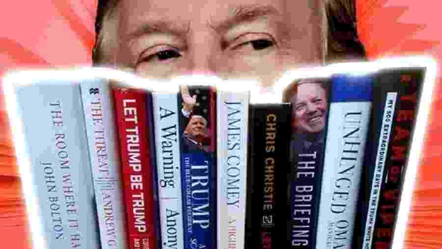 Livros sobre Donald Trump, presidente norte-americano, abordam as diversas facetas do empresário - BBC