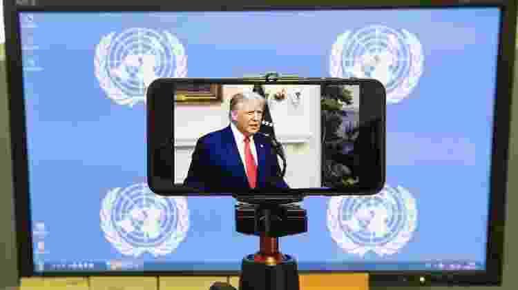 Devido à pandemia, a abertura da Assembleia Geral da ONU foi diferente neste ano - EPA - EPA