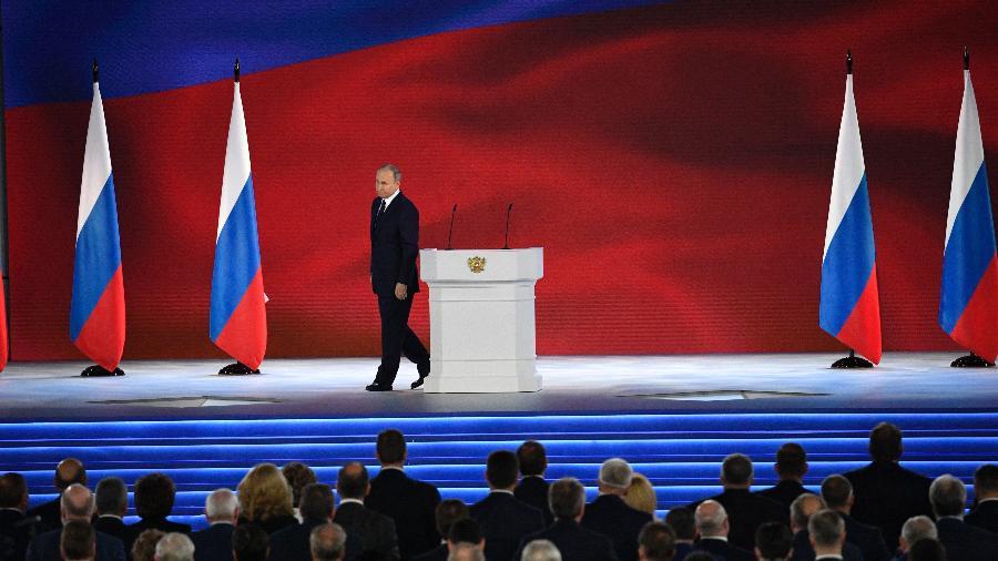 Putin fez seus comentários em um momento em que as relações com os Estados Unidos e a Europa estão sob forte pressão por causa da Ucrânia - Alexander Nemenov/AFP