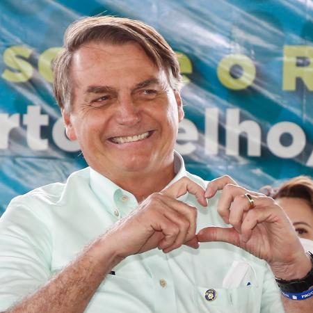 Jair Bolsonaro na cerimônia de inauguração da ponte sobre o Rio Madeira, BR-364, Distrito de Abunã - Anderson Riedel/Presidência da Rep´´ubl