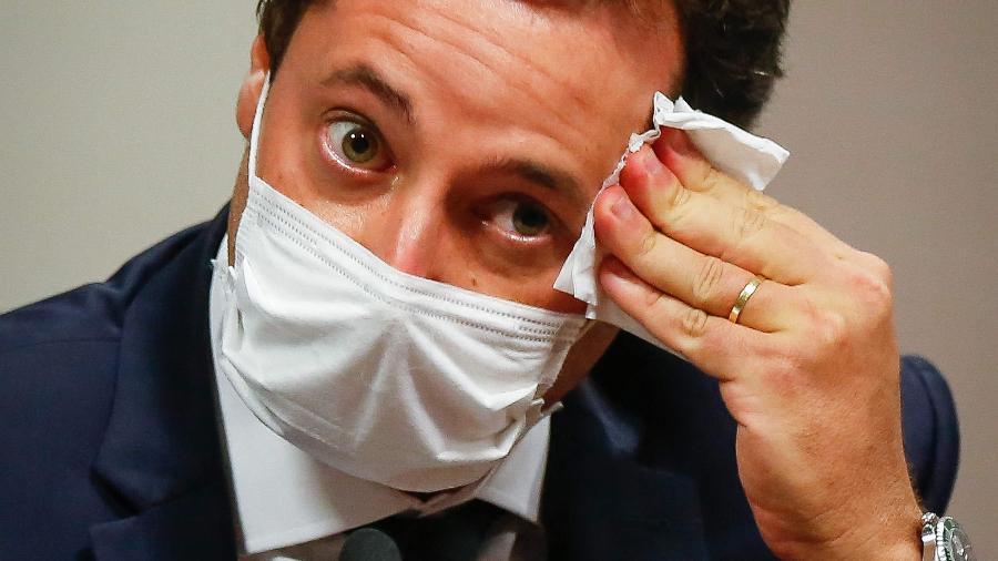 Fabio Wajngarten, ex-chefe de Comunicação de Bolsonaro, depõe na CPI da Covid - Sergio Lima/AFP