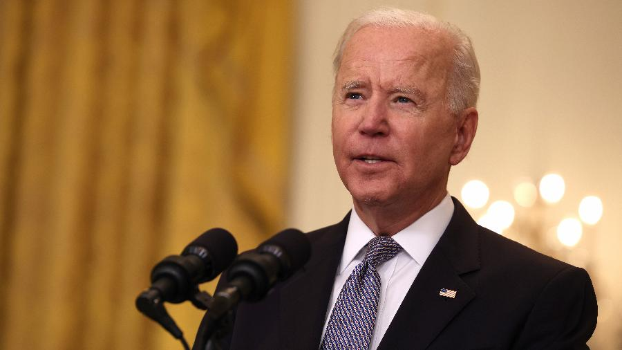 Joe Biden, presidente dos Estados Unidos, se declarou favorável um cessar-fogo entre israelenses e palestinos - Anna Moneymaker/Getty Images