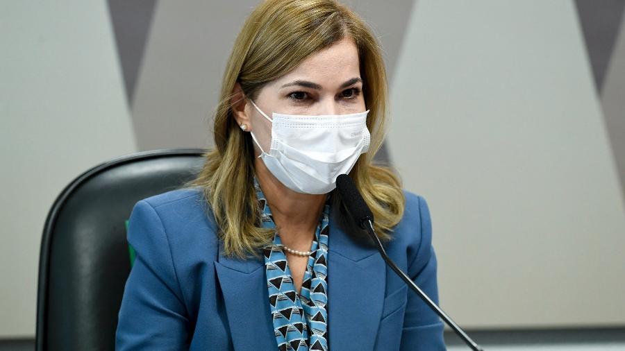 25.mai.2021 - Mayra Pinheiro em depoimento à CPI da Covid - Jefferson Rudy/Agência Senado