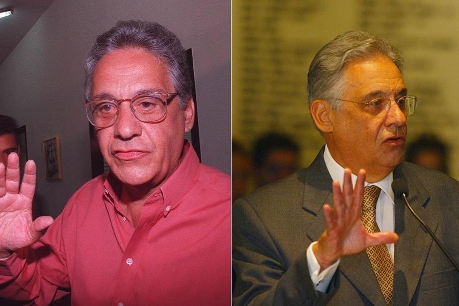 Fernando Henrique Cardoso foi responsável por tentar colocar o Brasil nos trilhos após um turbulento início da década de 90. Isso com certeza custou alguns cabelos brancos, como é possível ver na comparação de foto de campanha (em 1994, com 63 anos) e do final do seu segundo mandato, em 2002, aos 71 anos