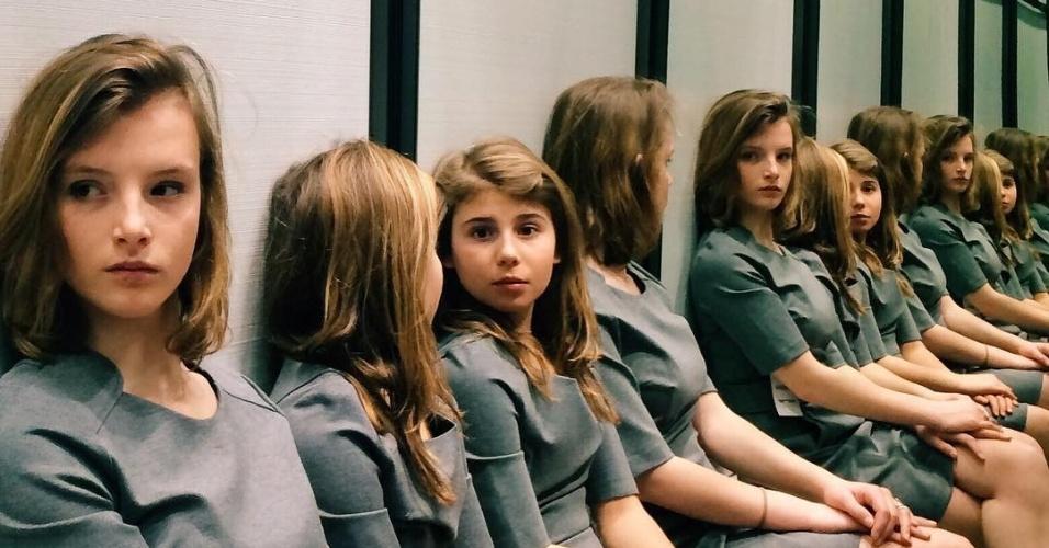 17.mar.2016 - Foto de Tiziana Vergari no Instagram confundiu internautas sobre o número de garotas da imagem