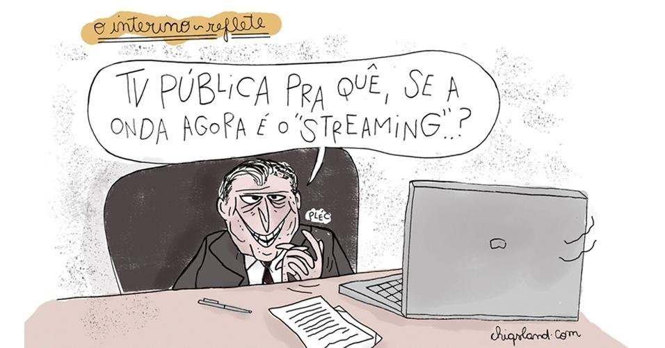 21.jun.2016 - O presidente interino, Michel Temer, quer fechar a TV Brasil e modernizar o setor