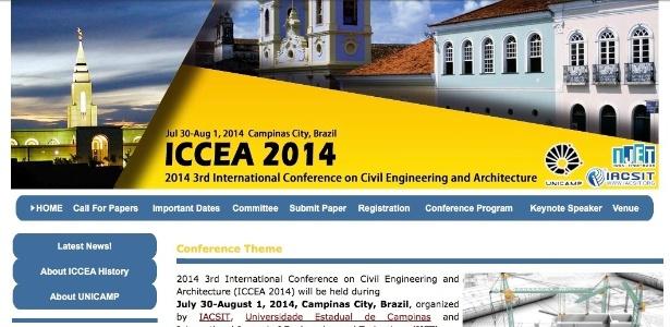 Página do Congresso feito na Unicamp