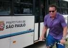 Schwarzenegger aproveita visita a SP para pedalar em ciclovia da zona sul - Reprodução/Twitter