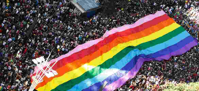 Parada do Orgulho LGBT de 2017 - LEONARDO BENASSATTO/FRAMEPHOTO/ESTADÃO CONTEÚDO