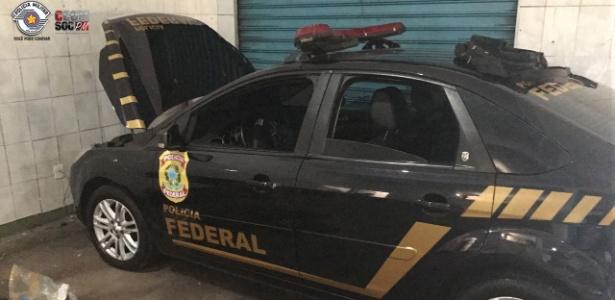 22.nov.2017 - Carro clonado apreendido pela PM de SP - Divulgação/Polícia Militar