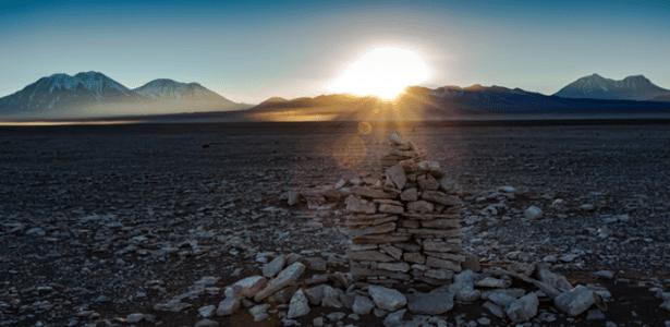 Saywas no deserto do Atacama, no Chile: estruturas de pedra foram instaladas pelos incas há séculos