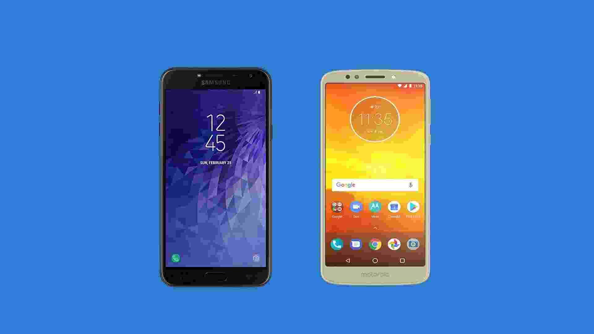 Samsung Galaxy J4 x Moto E5 - UOL