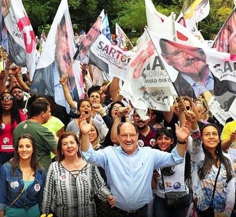 José Ivo Sartori (MDB) concorre à reeleição no RS