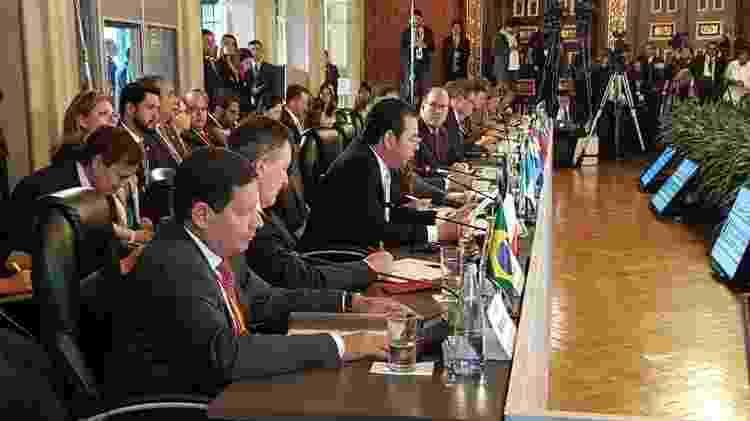 Envio do vice-presidente Hamilton Mourão para a reunião do Grupo de Lima é vista por especialistas como um sinal de moderação do Brasil - MINISTÉRIO DAS RELAÇÕES EXTERIORES DA COLÔMBIA