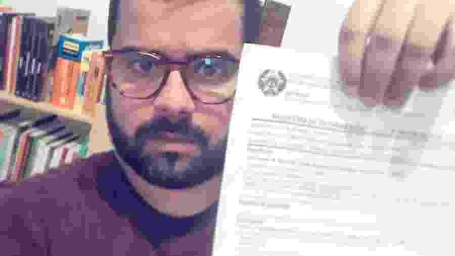 O sociólogo Márcio Paixão que abriu um boletim de ocorrência - Arquivo pessoal