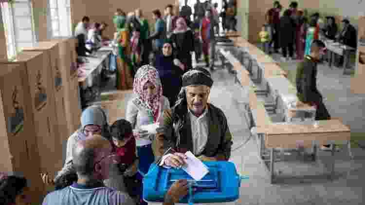 População em áreas dominadas por curdos no Iraque votaram em 2017 por independência - GETTY IMAGES