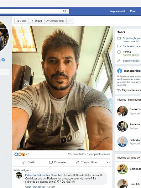 Postagem no Facebook registrada em cartório pelo deputado federal Júnior Bozzella (PSL-SP) - Reprodução/Facebook