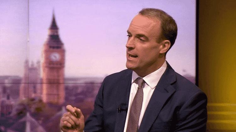 O secretário de Relações Exteriores britânico, Dominic Raab, garantiu que 'todas as alegações que tinham provas foram analisadas' - BBC