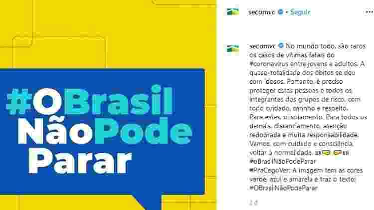 o brasil n pode parar - Reprodução - Reprodução