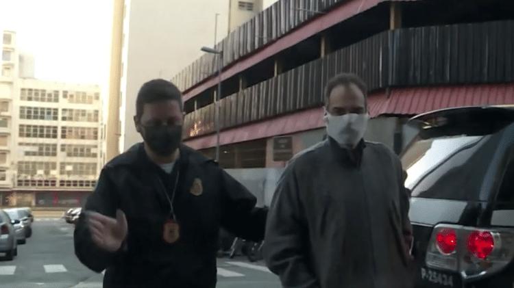 Carlos Augusto de Moraes Afonso (conhecido como Luciano Ayan) é preso na Juno Moneta - Reprodução/GloboNews - Reprodução/GloboNews