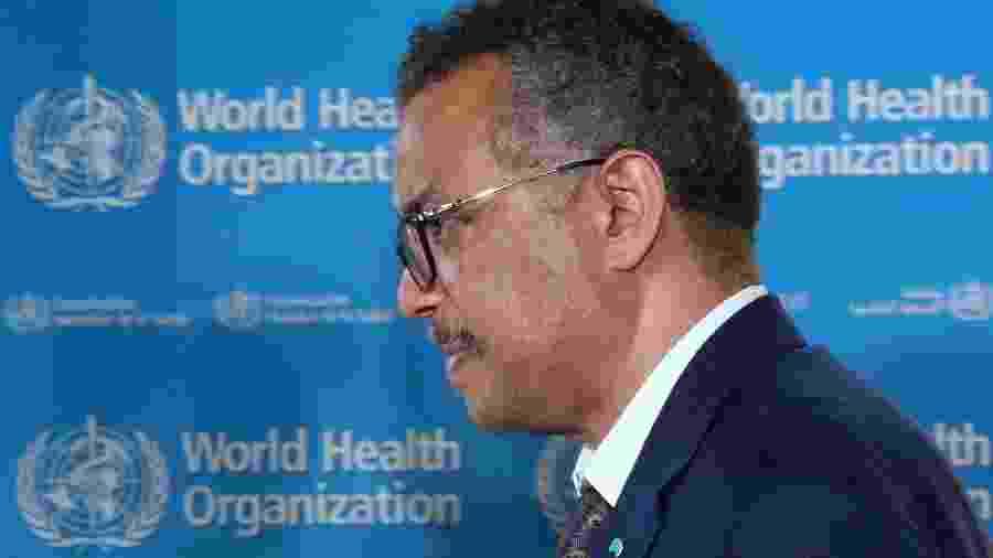 Diretor-geral da OMS, Tedros Adhanom Gebreyesus, em Genebra -