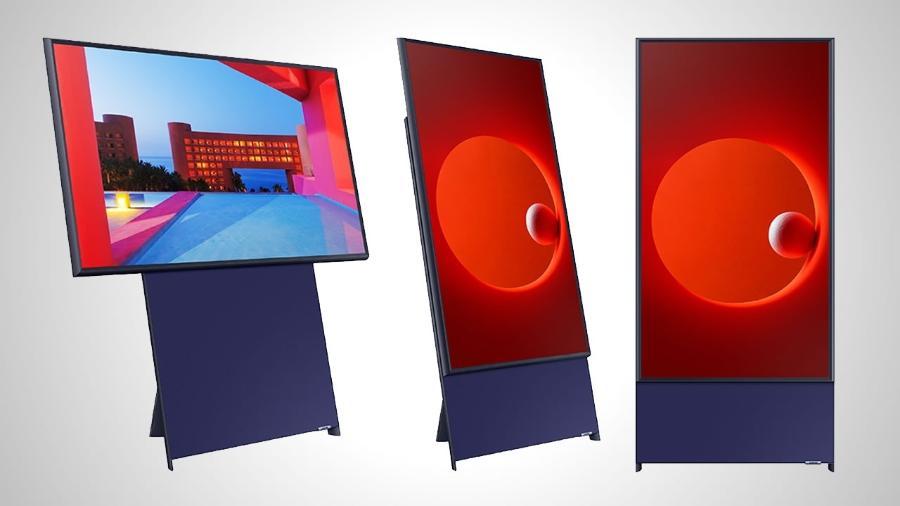 The Sero, TV da Samsung que gira para ser usada na vertical - Divulgação