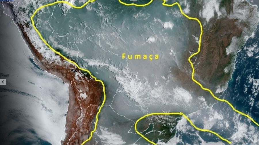 Neste ano, a Amazônia já registrou 70.669 focos de calor, segundo o Inpe; no Pantanal, foram 15.968 - Divulgação/Inpe