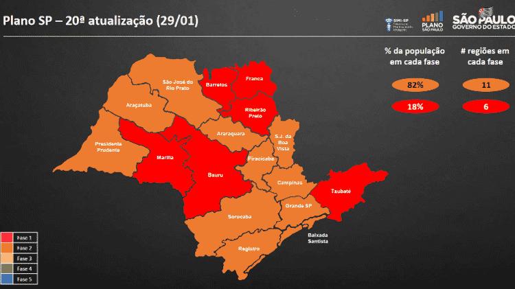 A última reclassificação do Plano São Paulo foi feita no dia 29 de janeiro - Reprodução - Reprodução