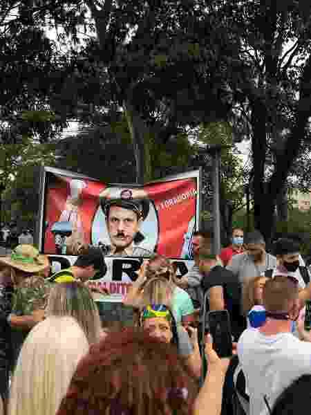Muitos dos manifestantes não usavam máscaras - Lucas Borges Teixeira/UOL - Lucas Borges Teixeira/UOL