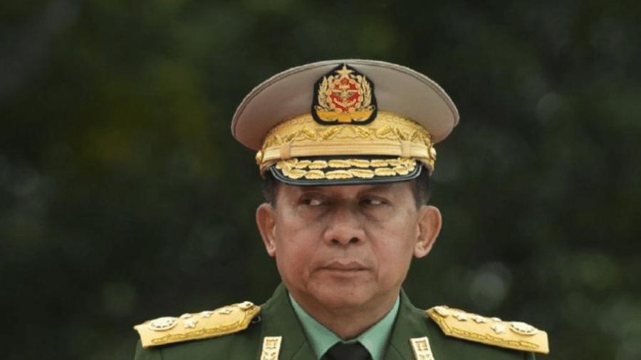 Min Aung Hlaing liderou golpe que tirou do poder líderes eleitos democraticamente em Mianmar - Getty Images