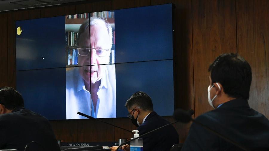 Senador Tasso Jereissati participou da CPI da Covid por videoconferência - Edilson Rodrigues/Agência Senado