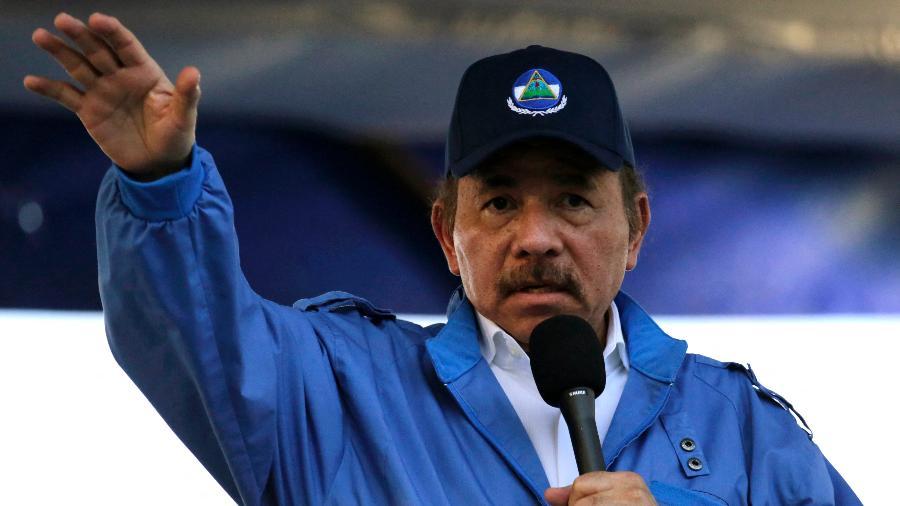 Arquivo - Mora foi detido em sua casa com base em uma lei que o governo do presidente Daniel Ortega (foto) aplica aos opositores - INTI OCON / AFP