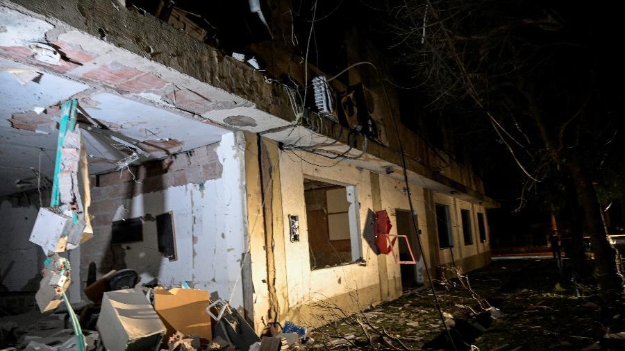 15.jun.2021 - Vista das instalações destruídas de uma base militar, que segundo as autoridades foi devido à explosão de um carro-bomba, em Cúcuta, Colômbia - Stringer/Reuters