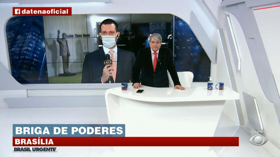 Datena critica presidente Jair Bolsonaro (sem partido) após STF cancelar reunião entre chefes dos três Poderes - Reprodução