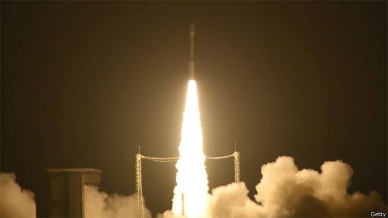 8.jan.2015 - Satélite Lisa Pathfinder decola de base da Agência Espacial Europeia na Guiana Francesa. Proteger o Centro Espacial Guianês é uma missão primordial da Legião neste departamento ultramarino da França