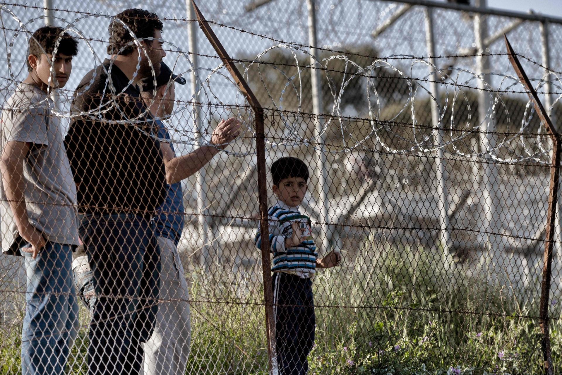 Centro de detenção de Moria, na Grécia