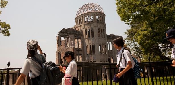 Centro de exposição em Hiroshima, no Japão, um dos poucos locais que sobreviveram à bomba atômica despejada ali pelos EUA no fim da Segunda Guerra Mundial