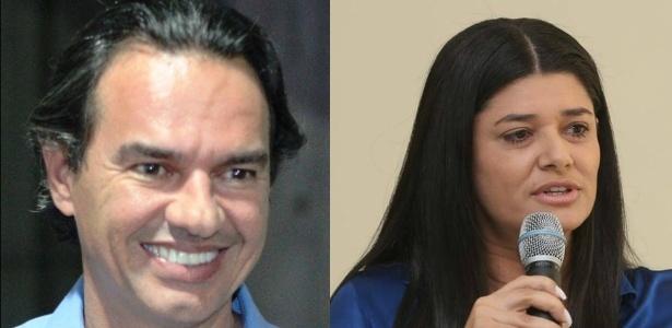 Os candidatos Marquinhos Trad (PSD) e Rose Modesto (PSDB)