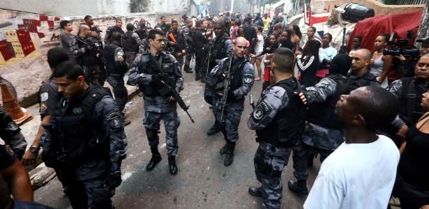 Na semana passada, a favela Pavão-Pavãozinho, em Copacabana, zona sul do Rio, teve dia de intenso tiroteio envolvendo PMs