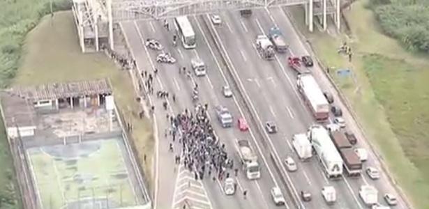 SP: Régis Bittencourt registra lentidão por causa de protesto - Reprodução/Band News