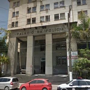 Caso do PM Edgar Fonseca de Oliveira foi registrado na Delegacia Seccional de Santos - Reprodução/Google Street View